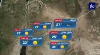 بالفيديو..إرتفاع طفيف على درجات الحرارة الأحد