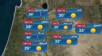 بالفيديو..ارتفاع على درجات الحرارة السبت والطقس حار