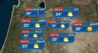 بالفيديو..انخفاض على الحرارة الجمعة والأجواء ربيعية