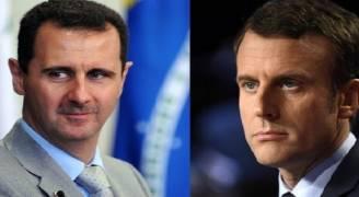 ماكرون: رحيل الاسد لم يعد أولوية بالنسبة الى فرنسا