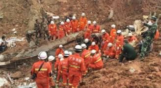 فقدان مئة شخص طُمروا بانزلاق للتربة في الصين