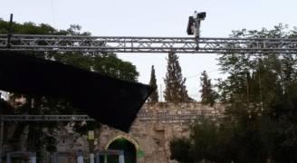 الاحتلال ينصب كاميرات ذكية عند باب الأسباط