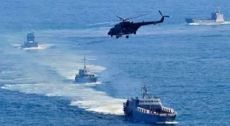 مناورات عسكرية بحرية مشتركة بين الصين وروسيا