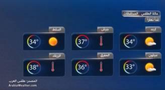 طقس حار يومي الأربعاء والخميس واعتدال الأجواء نهاية الأسبوع.. فيديو