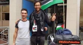 يهودي يمشي من السويد إلى فلسطين تنديدا بانتهاكات الاحتلال