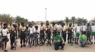 ٩ حجاج بريطانيون يصلون السعودية عبر دراجات هوائية