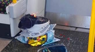 كيس بلاستيك قد يؤدي لاعتقال إرهابي قطار الأنفاق بلندن ..فيديو