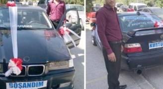شاب تركي يحتفل بطلاقه بهذه الطريقة .. فيديو