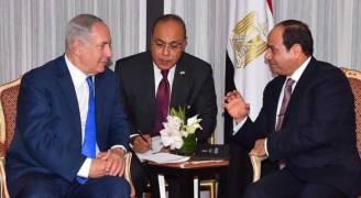 السيسي يبحث عملية السلام مع نتانياهو