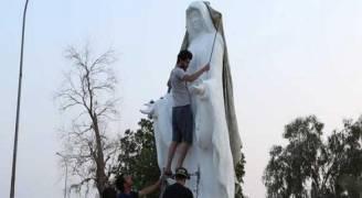 إزالة تمثال للسيدة العذراء وسط البصرة خشية 'الفتنة'