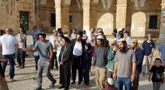 مئات المستوطنين يقتحمون المسجد الأقصى