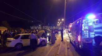 إصابة بالغة بحادث تصادم على طريق في اربد