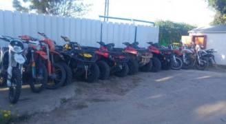 غزة: المباحث تضبط ٣٠ دراجة نارية مسروقة