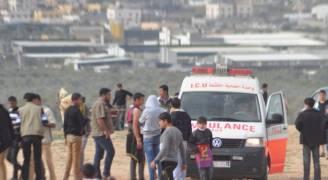 اصابة شاب فلسطيني بجراح برصاص الاحتلال وسط قطاع غزة