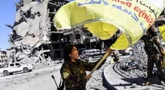 مقاتلو سوريا الديموقراطية يحتفلون بالنصر في بالرقة على داعش