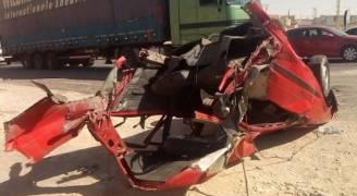 ٣ إصابات بحادث على الحزام الدائري.. صور