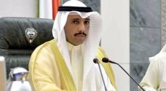 برقية من أمير الكويت للغانم بعد رده على وفد الاحتلال