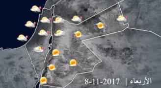 انخفاض على درجات الحرارة وتكاثر السحب تدريجياً الأربعاء