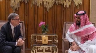 ولي العهد السعودي وبيل غيتس يستعرضان فرص الاستثمار