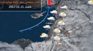 امتداد منخفض جوي وكتلة هوائية باردة يؤثران على المملكة يوم الثلاثاء