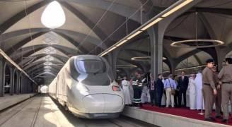 مكة تستقبل أول رحلة رسمية لقطار الحرمين