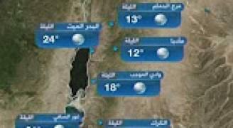 النشرة الجوية الأردنية من رؤيا 25-4-2017