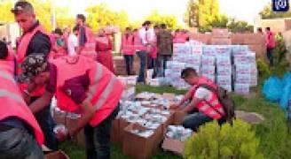 إفطار خيري للأيتام في حدائق الحسين