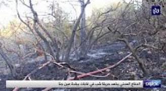 كوادر الدفاع المدني تخمد حريقا ضخما في غابات عجلون