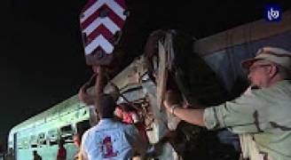 ارتفاع جديد لضحايا تصادم قطاري الاسكندرية