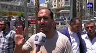 تظاهر صحفيين فلسطينيين فى رام الله ضد اعتقال أجهزة الأمن لزملائهم