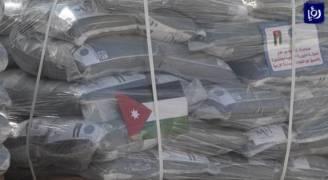 الهيئة الخيرية الهاشمية تسير قافلة مساعدات غذائية الى غزة