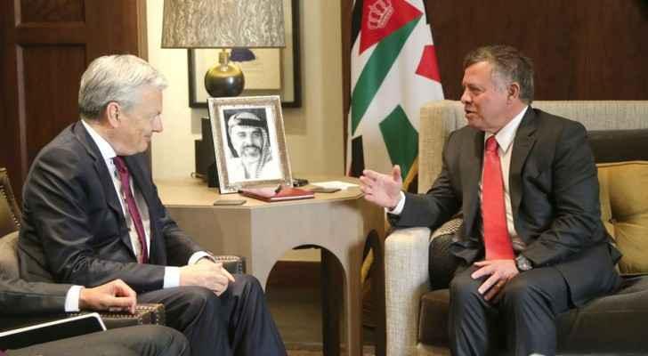 الملك يلتقي وزيري خارجية بلجيكا والنرويج