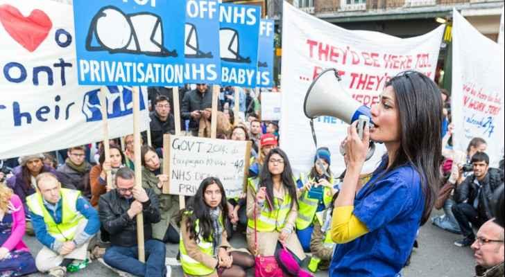 من احتجاجات الأطباء المبتدئين في لندن