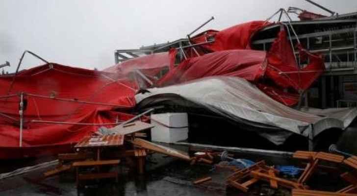 جانب من الدمار الذي خلفه إعصار ميجي
