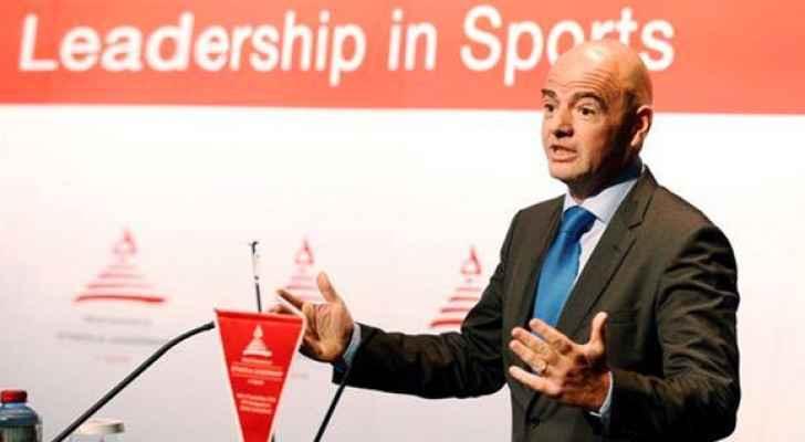 رئيس الاتحاد الدولي لكرة القدم (فيفا) السويسري جياني إنفانتينو