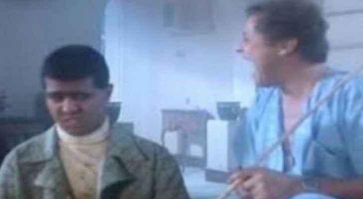 الممثل المصري سخسوخ مع الممثل محمود عبد العزيز في فلم الكيف