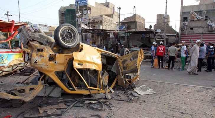 آثار تفجير في مدينة الصدر ببغداد