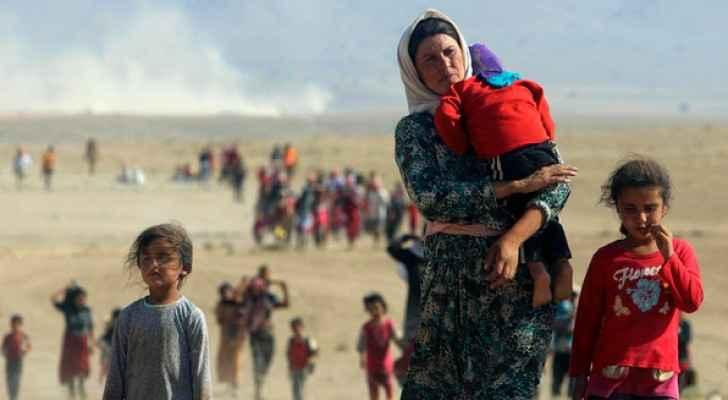 نازحون من سنجار بعد سيطرة داعش عليها