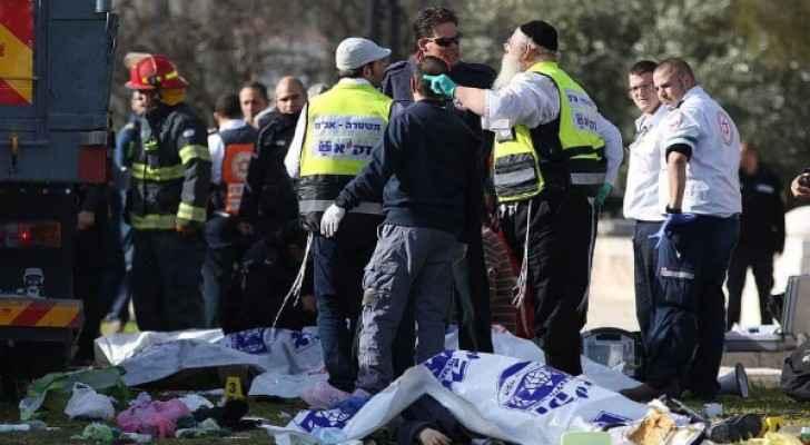 4 قتلى واصابة 15 جنديا بعملية دهس بالقدس
