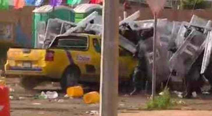 المكسك مواطن يدهس 7 ضباط احتجاجا على رفع اسعار البنزين
