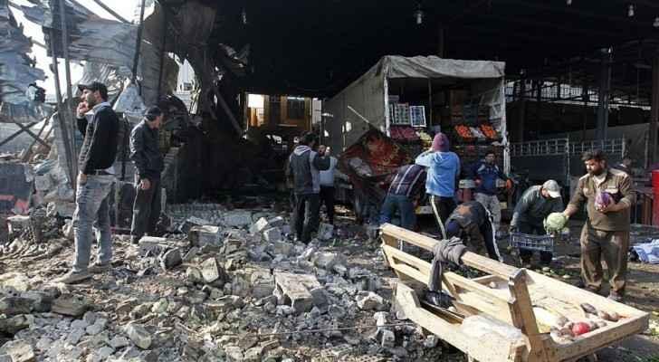 انفجار في سوق الخضار