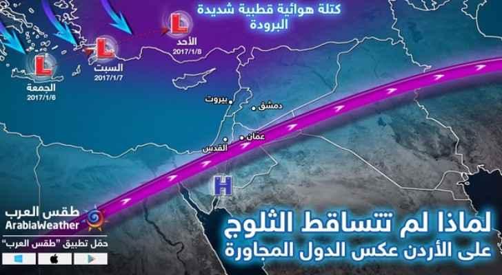 الصورة توضيحية  لعدم تساقط الثلوج في الأردن