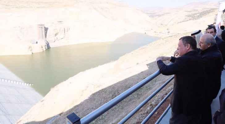 جانب من زيارة الملك لمحافظة عجلون