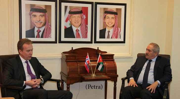 وزير الخارجية ناصر جودة ونظيره النرويجي بورغه برندي