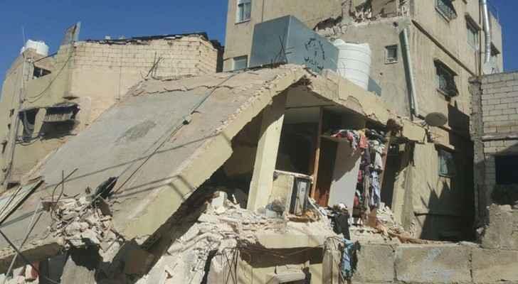 من اثار الدمار في مباني الجوفة