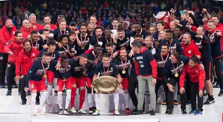 سالزبورغ يحتفل بلقب الدوري النمساوي