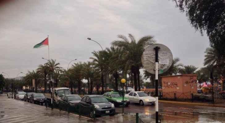 الامطار في محافظة العقبة - الصورة من مواقع التواصل الاجتماعي