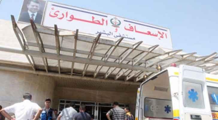 تم اسعاف المصاب الى مستشفى البشير