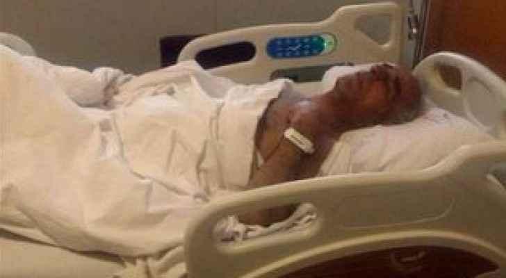 الطيار السوري في احدى المستشفيات التركية