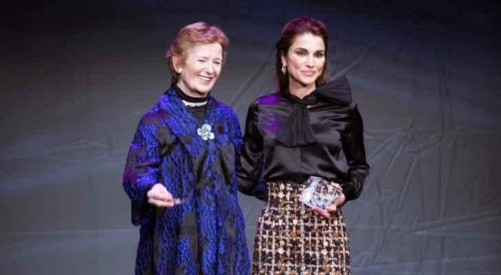من تكريم الملكة رانيا